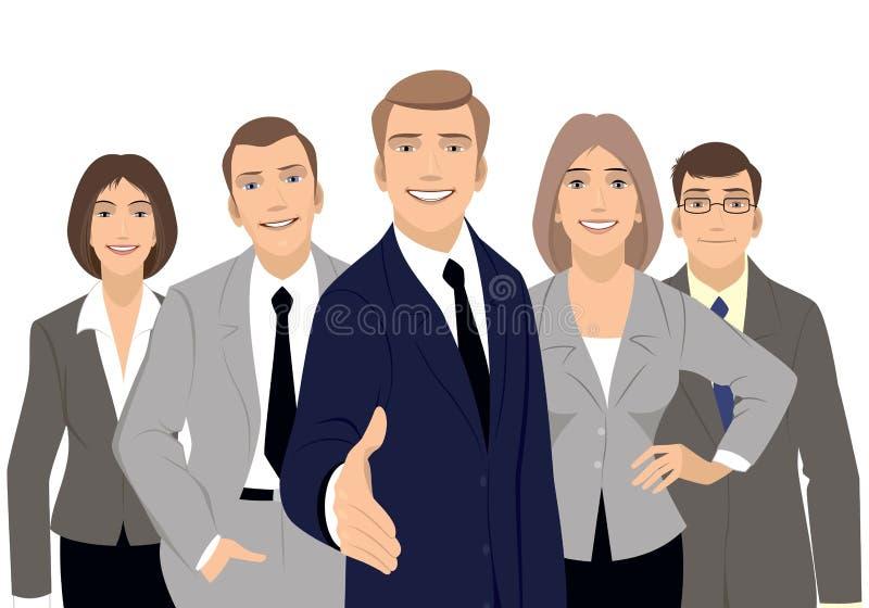 Commercieel team op wit royalty-vrije illustratie