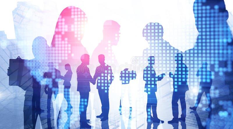 Commercieel team in stad, internationaal bedrijf royalty-vrije stock foto