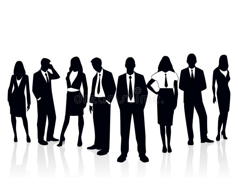 Commercieel teamsilhouet royalty-vrije illustratie
