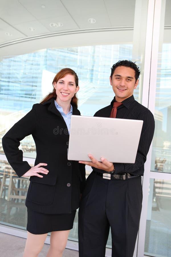 Commercieel van de man en van de Vrouw Team stock afbeeldingen