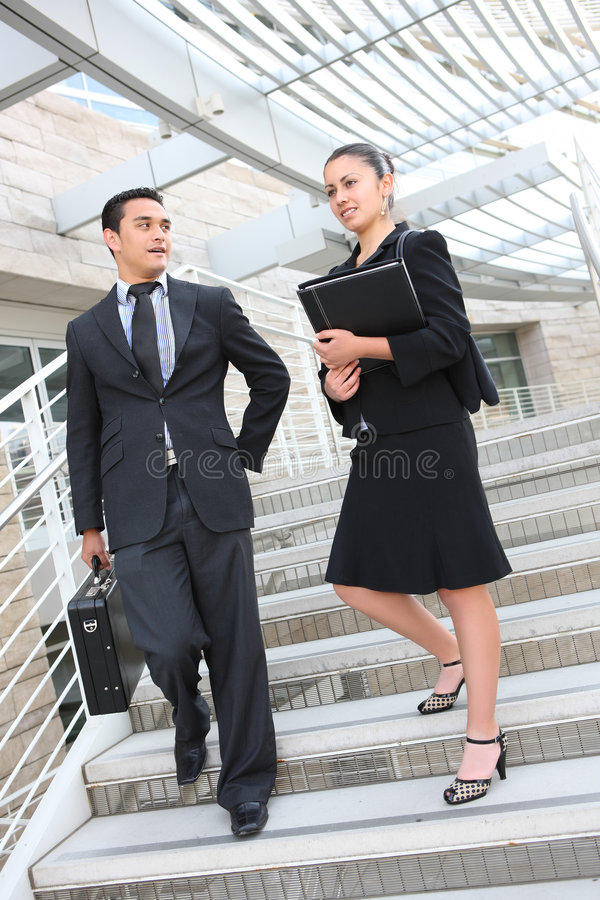 Commercieel van de man en van de Vrouw Team royalty-vrije stock afbeelding