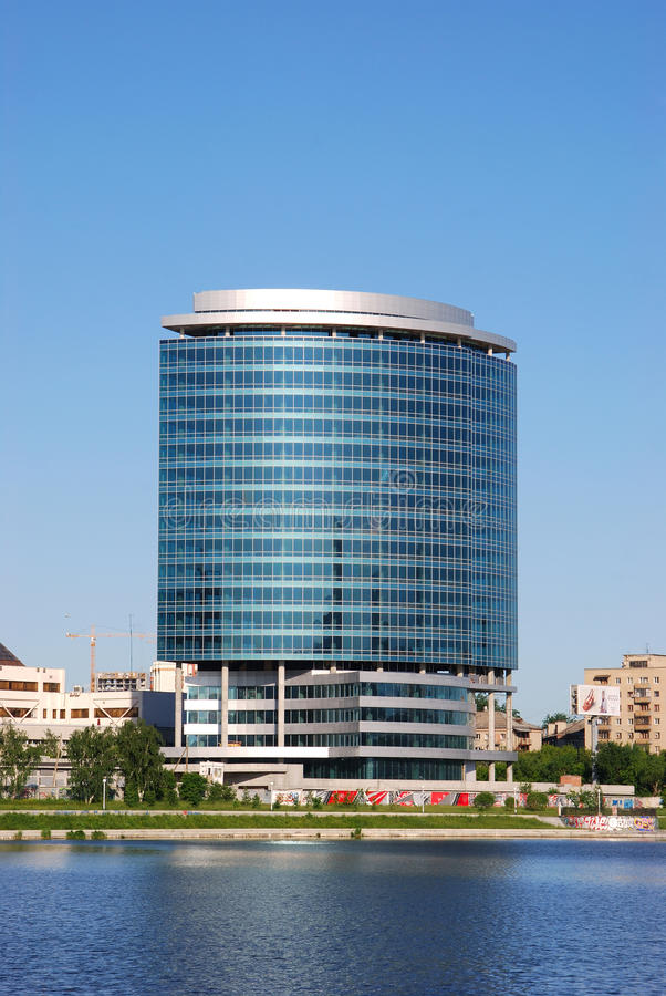 Commercieel van de voorzitter centrum (Yekaterinburg) stock fotografie