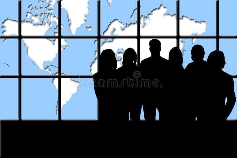 Commercieel van de wereld Team stock illustratie