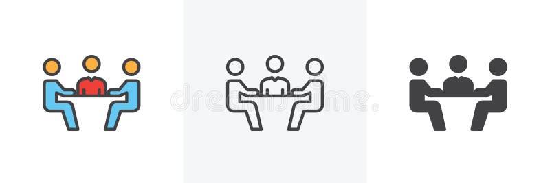 Commercieel vergaderingspictogram stock illustratie