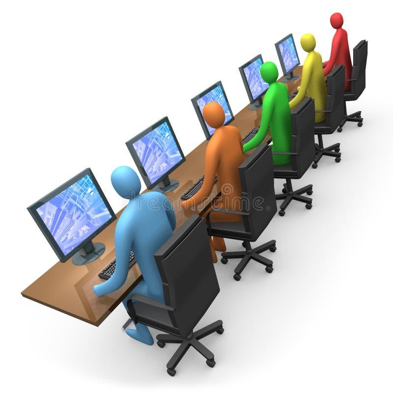 Commercio - accesso di Internet illustrazione vettoriale