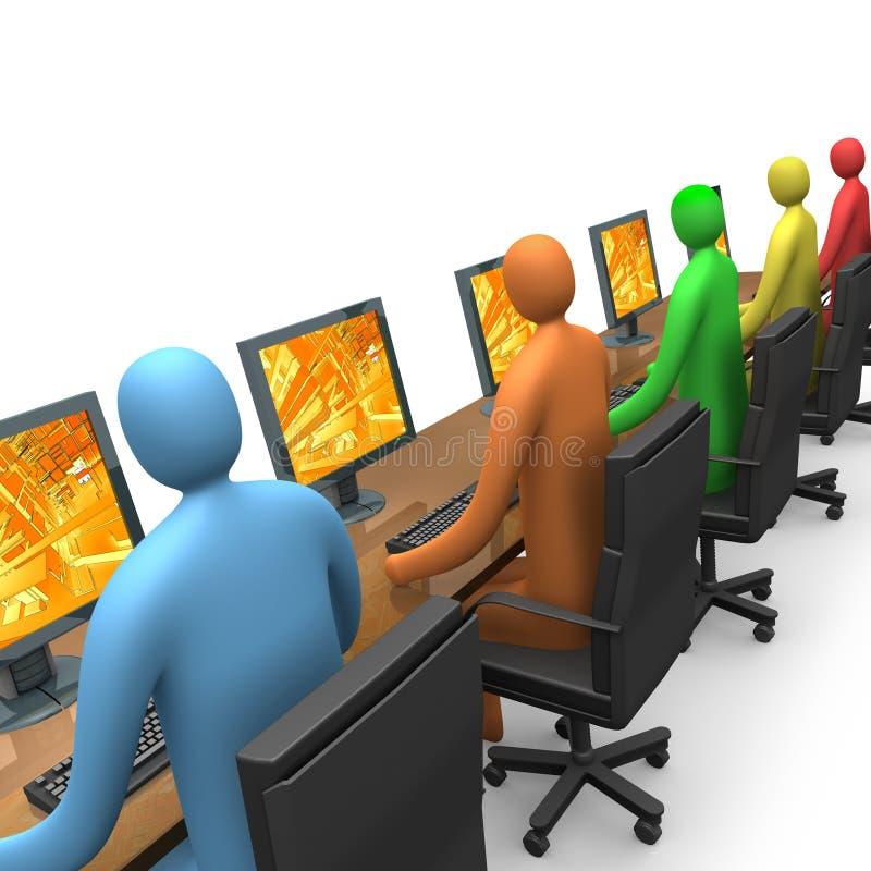 Commercio - accesso di Internet illustrazione di stock