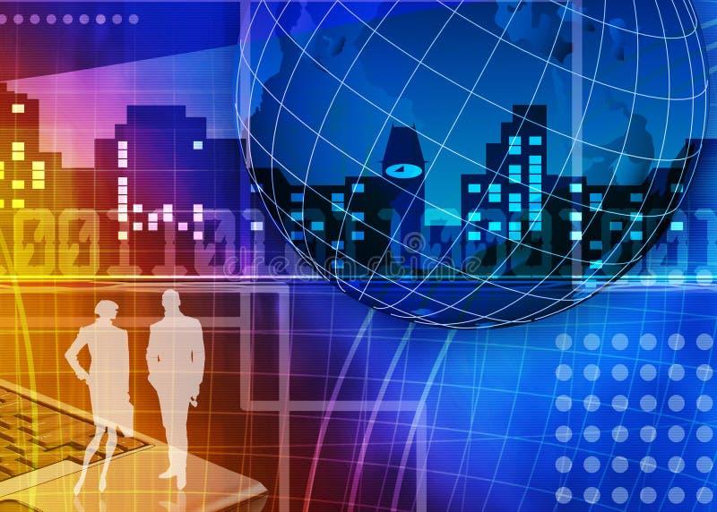 Commercio astratto ed ESSO priorità bassa royalty illustrazione gratis