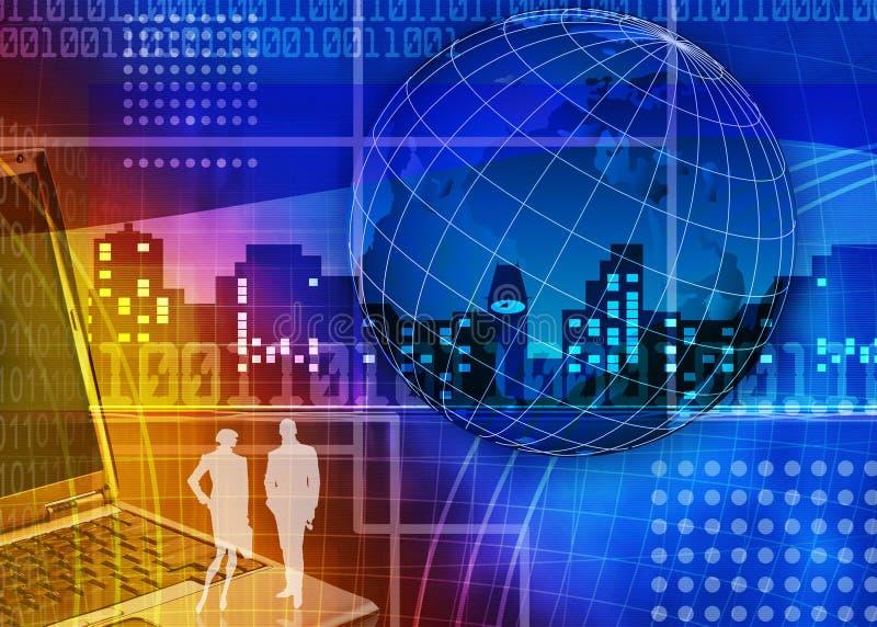 Commercio astratto ed ESSO priorità bassa illustrazione vettoriale