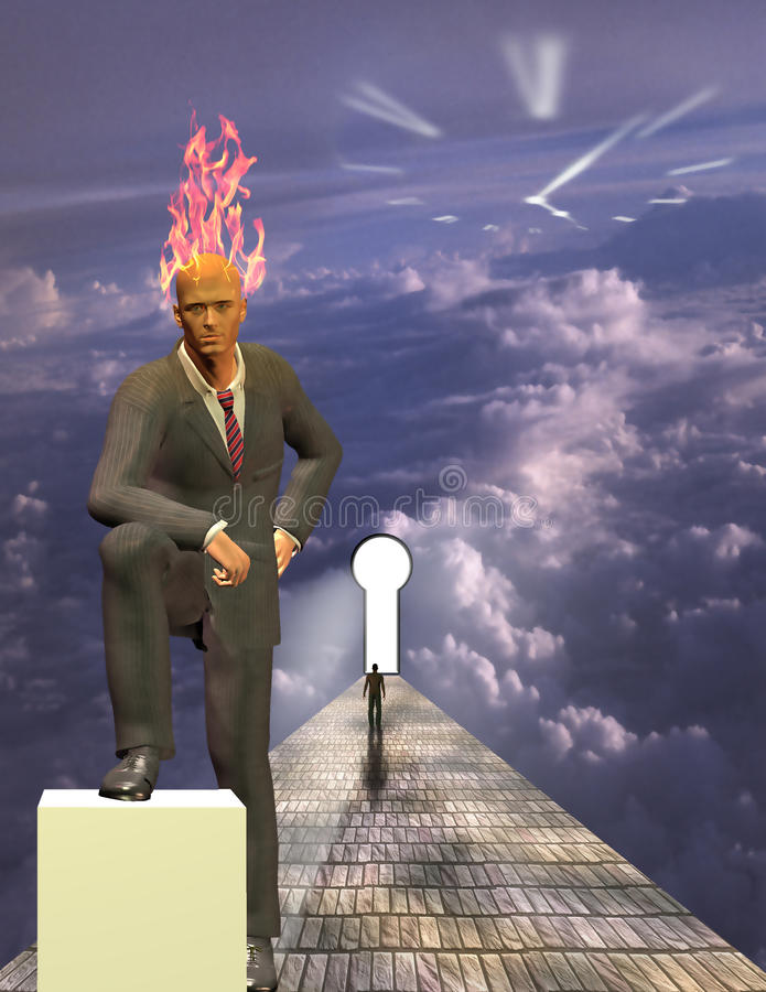 Commercio Burning di mente royalty illustrazione gratis