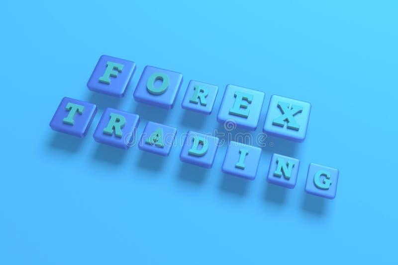 Commercio dei forex, parola chiave di finanza Per la pagina Web, la progettazione grafica, la struttura o il fondo illustrazione di stock