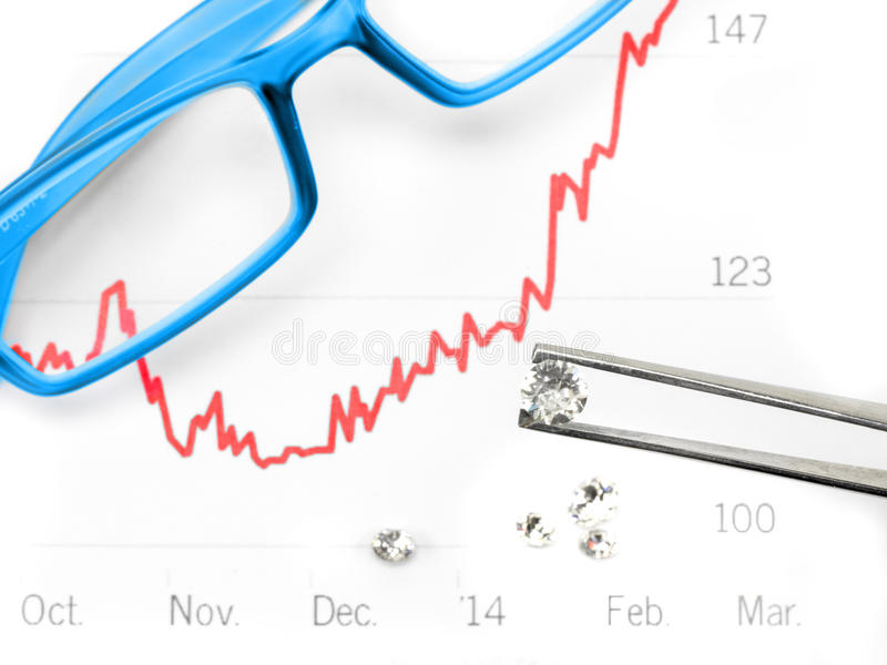 Commercio del diamante fotografia stock libera da diritti