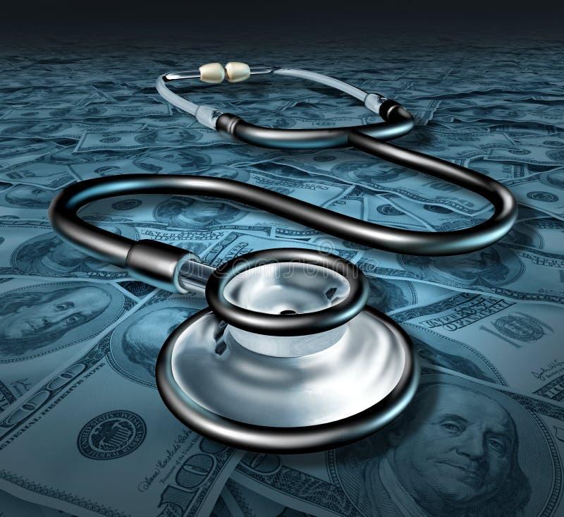 Commercio del profitto di sanità dello stetoscopio della medicina fotografie stock