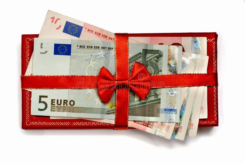 commercio del regalo con il nastro del regalo immagine stock libera da diritti