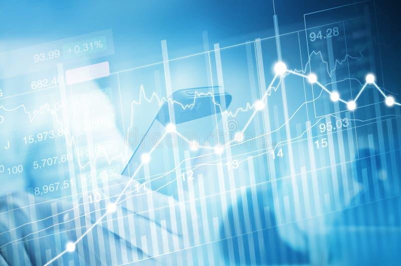 Commercio di investimento del mercato azionario, grafico del grafico del bastone della candela immagini stock
