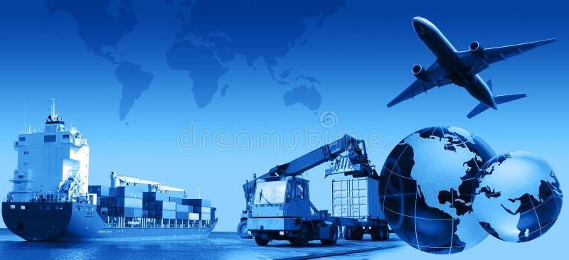 Commercio di trasporto illustrazione di stock