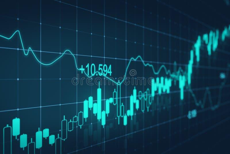 Commercio e concetto di stats illustrazione vettoriale