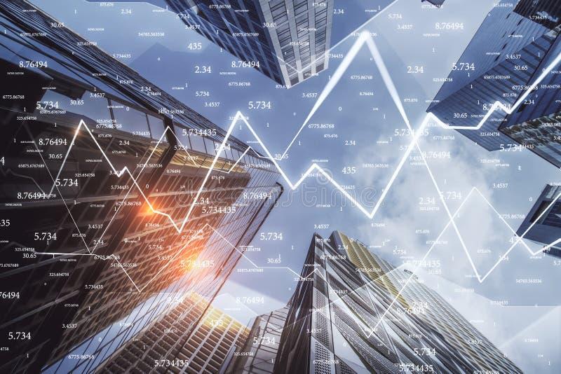 Commercio e concetto di stats illustrazione di stock
