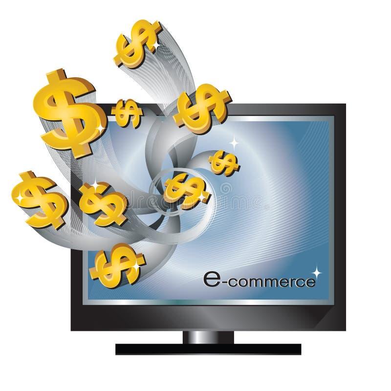 Commercio elettronico illustrazione vettoriale