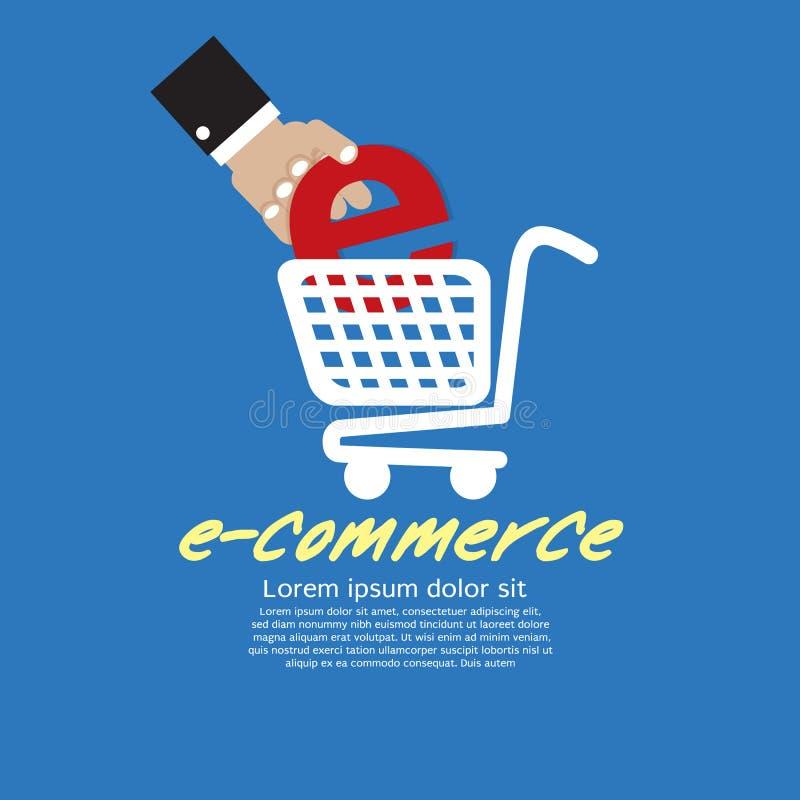 Commercio elettronico. illustrazione di stock