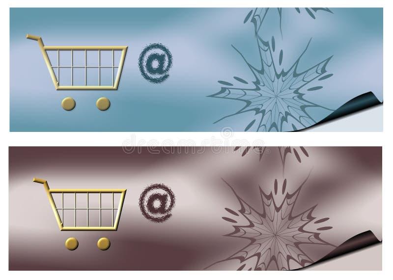Commercio elettronico della bandiera illustrazione di stock