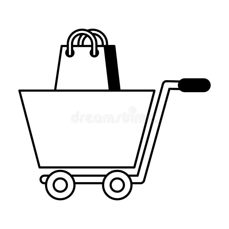 Commercio elettronico della borsa e del carrello royalty illustrazione gratis