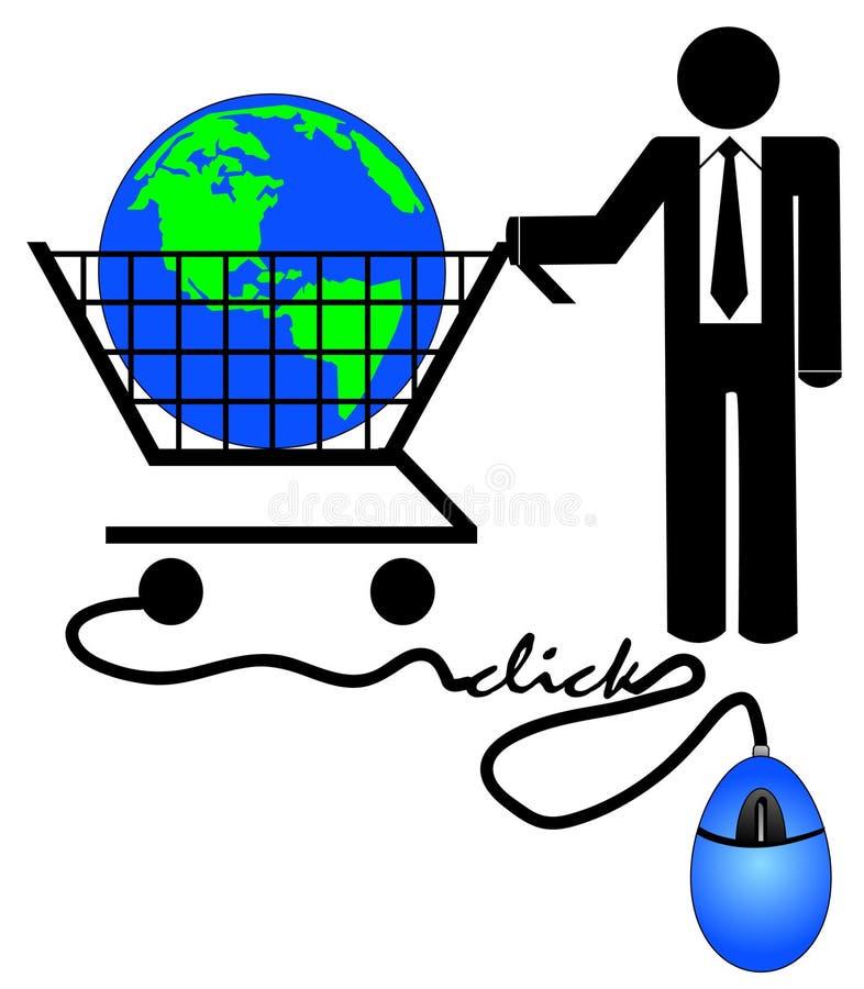 Commercio elettronico di affari illustrazione di stock