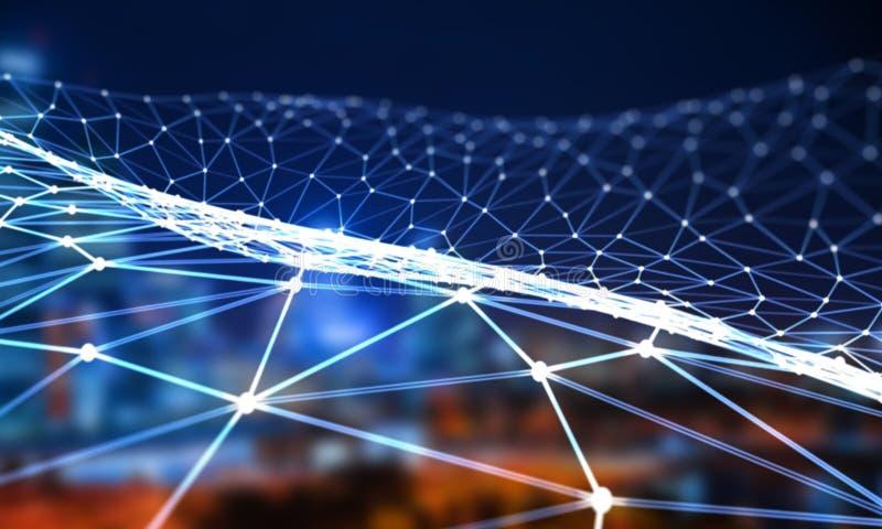 Commercio elettronico e concetto sociale rappresentazione 3d illustrazione di stock
