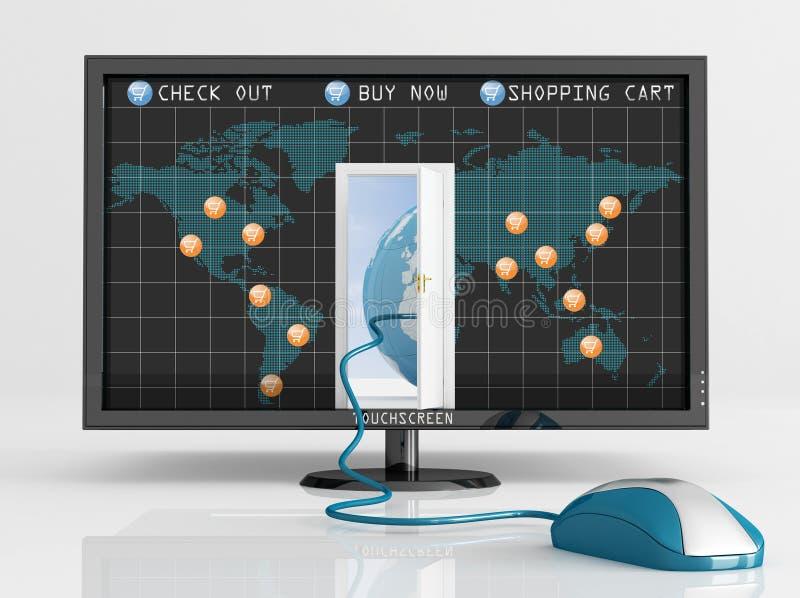 Commercio elettronico globale royalty illustrazione gratis