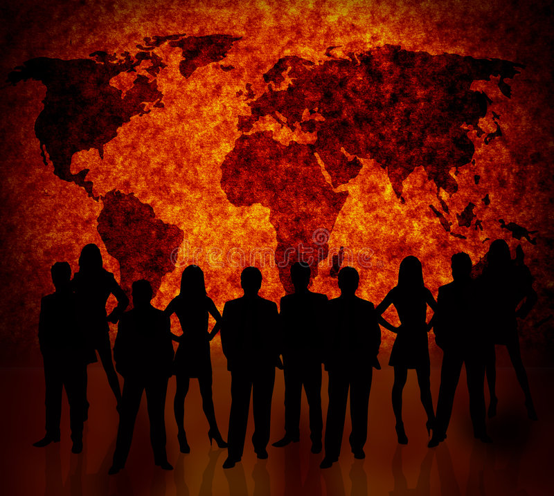 Commercio globale royalty illustrazione gratis