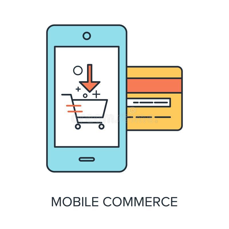 Commercio mobile illustrazione vettoriale