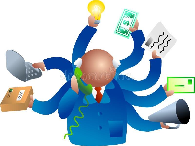 Commercio occupato illustrazione vettoriale