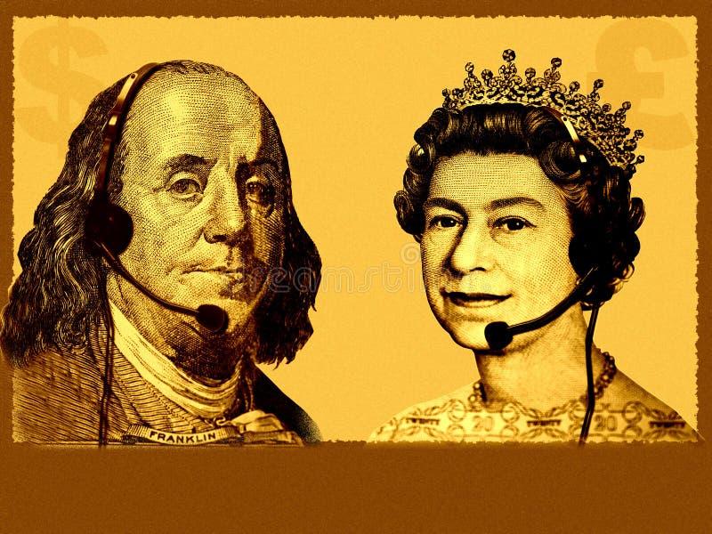 Commercio/servizio di assistenza al cliente internazionali concettuali royalty illustrazione gratis