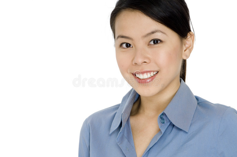 Commercio sorridente fotografia stock