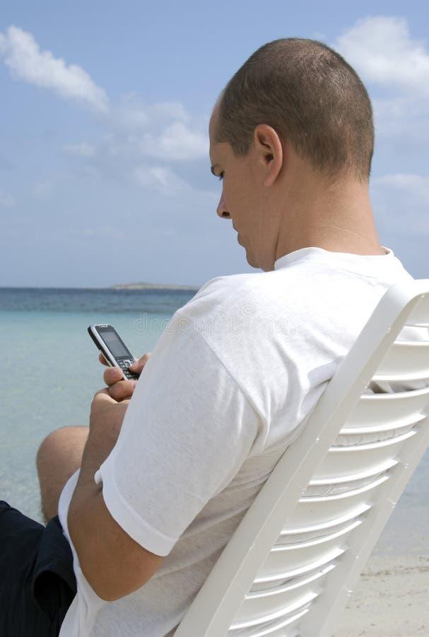 Commercio sulla spiaggia fotografia stock