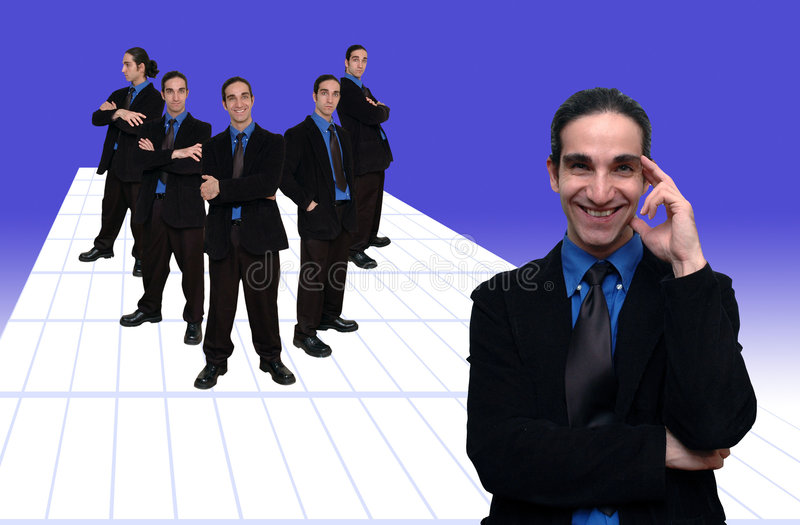 Commercio team-1 immagine stock