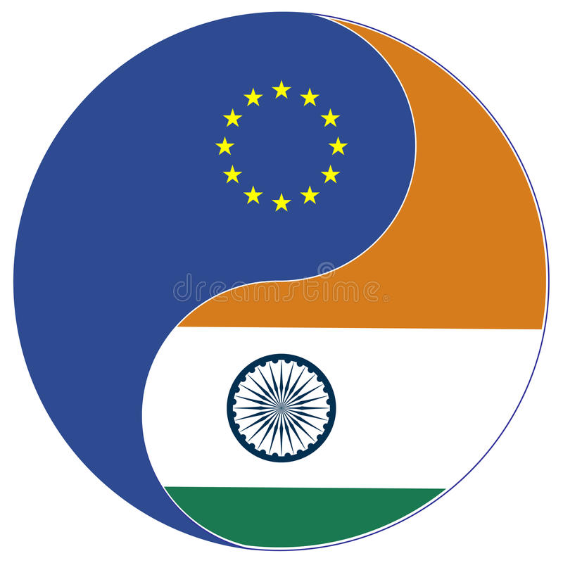 Commercio tra l'UE e l'India illustrazione vettoriale