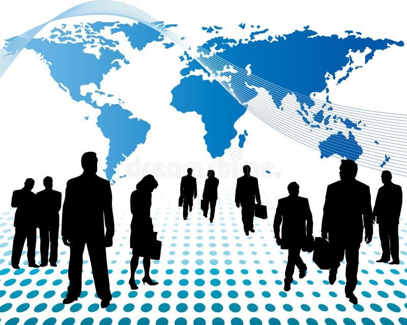 Commercio in tutto il mondo royalty illustrazione gratis