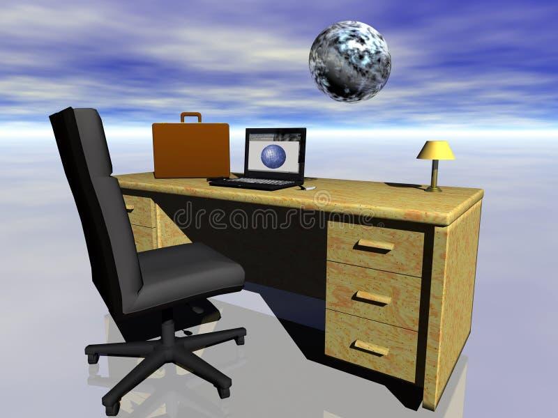 Commercio in tutto il mondo ed Internet. illustrazione di stock