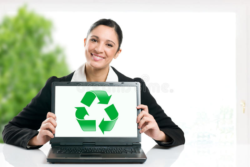 Commercio verde che ricicla simbolo immagine stock libera da diritti