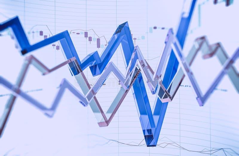 Commercio vetroso dei forex illustrazione di stock