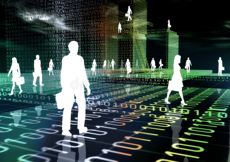 Commercio virtuale 03 illustrazione vettoriale