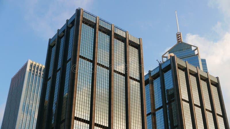 Commerical Gebäude des im Stadtzentrum gelegenen Bezirkes lizenzfreies stockbild
