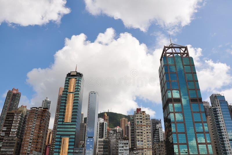 Commerical Gebäude in Hong Kong lizenzfreies stockbild