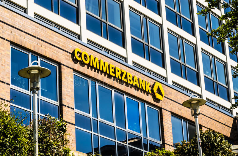 Commerzbank AG, немецкий глобальный банк стоковые изображения rf