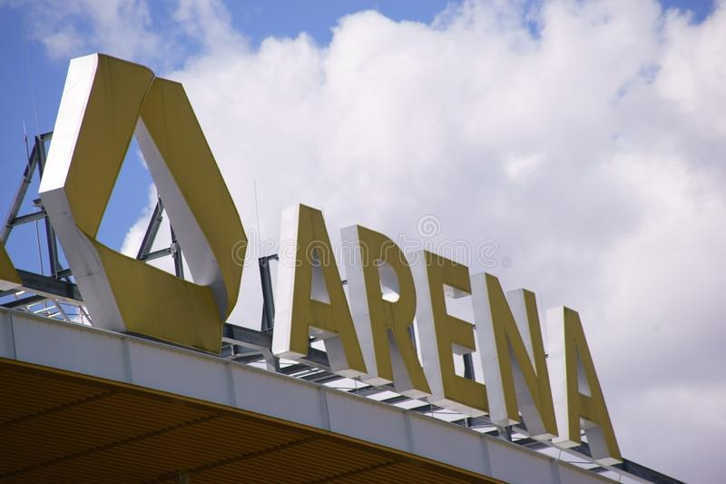 Commerzbank-Arena Frankfurt stockfotografie