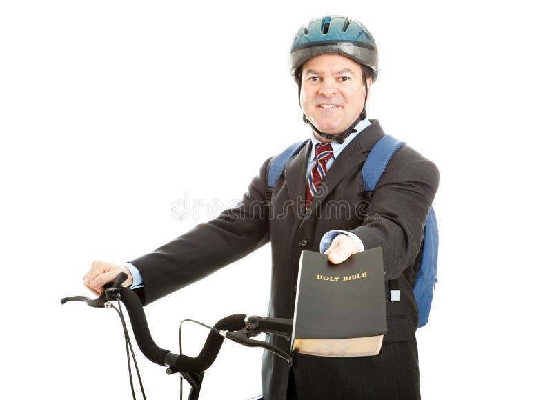 Commesso della bibbia della bicicletta fotografia stock libera da diritti
