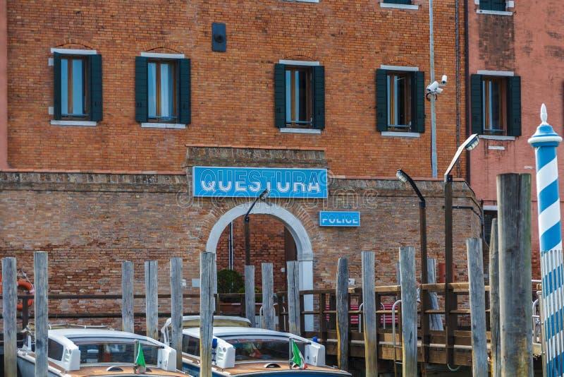 Commissariat de police de Venise photos stock