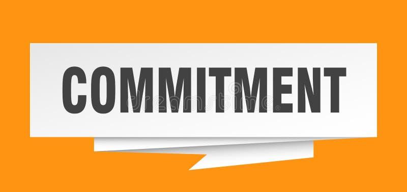 commitment иллюстрация вектора
