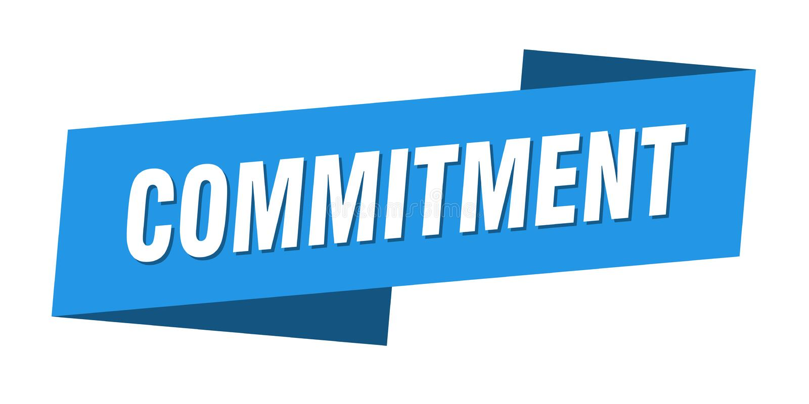 Commitment banner template. commitment ribbon label. Commitment sign vector illustration