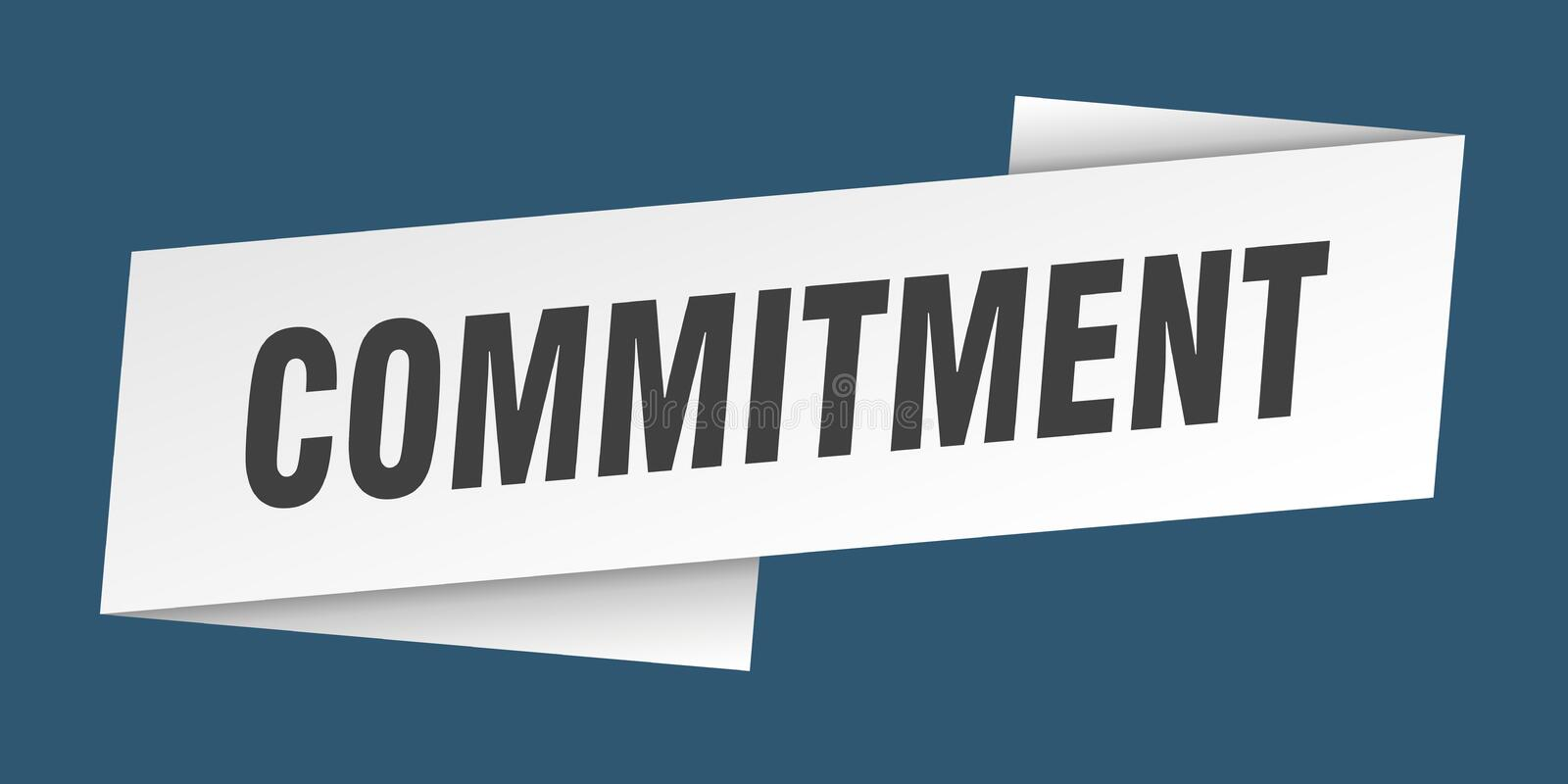 Commitment banner template. commitment ribbon label. Commitment sign stock illustration
